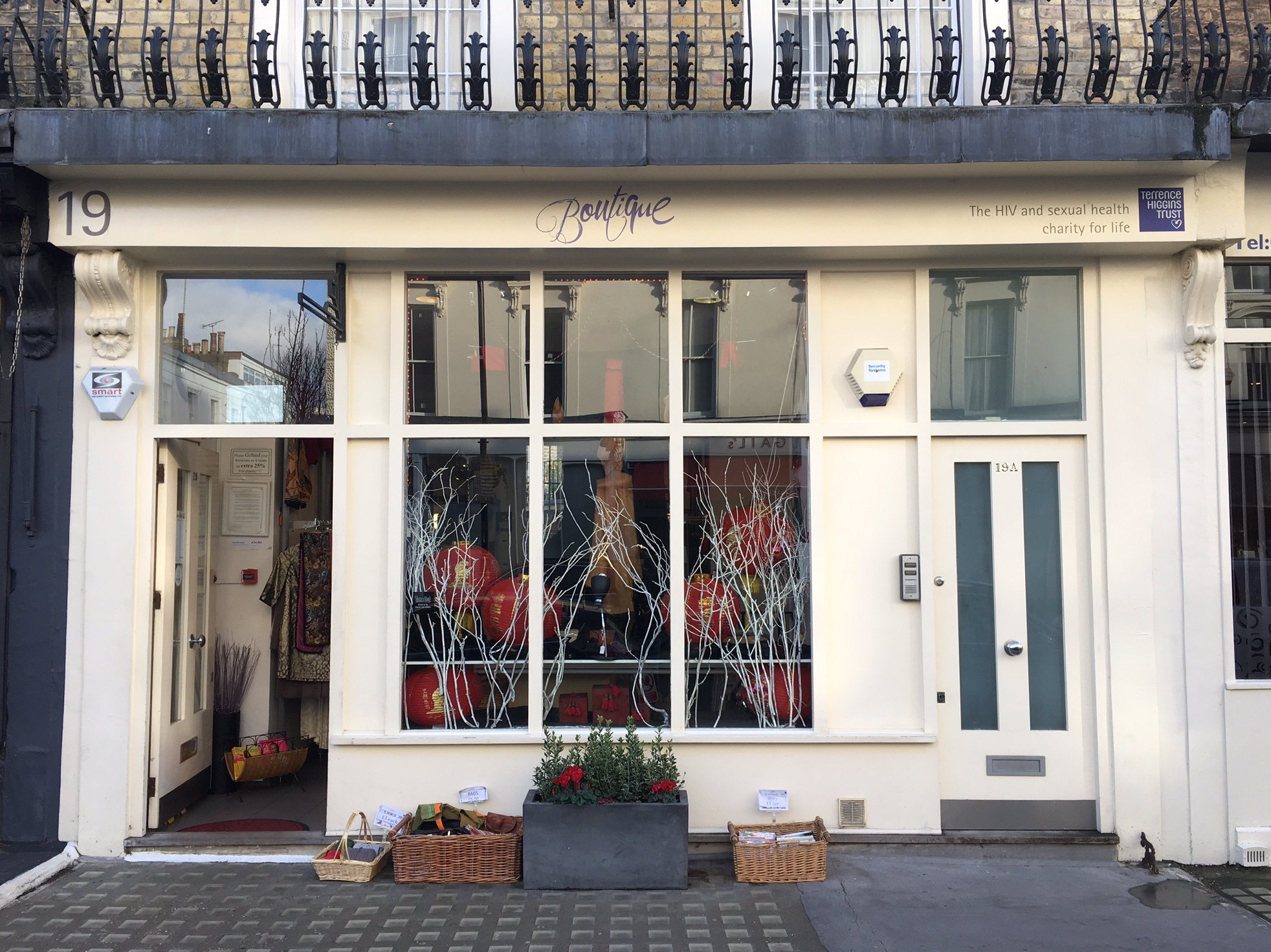 Front of the Boutique Shop in Pimlico