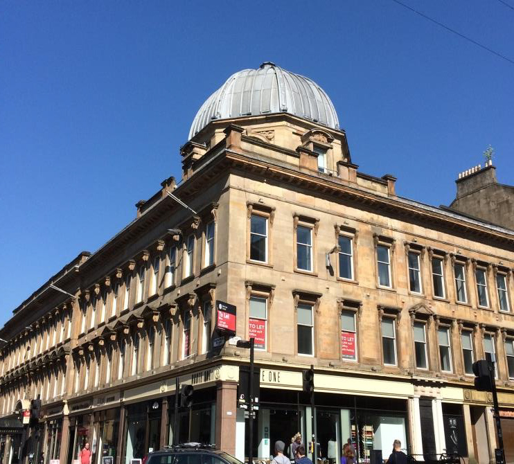 The outside of the Glasgow office
