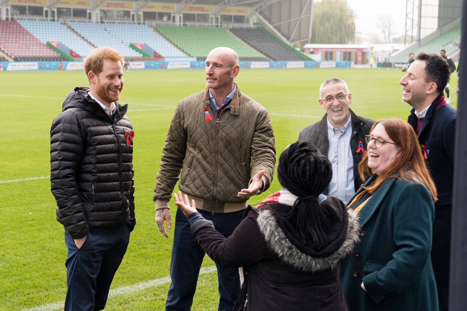 Duke of Sussex, Gareth Thomas, Ian Green at Twickenham