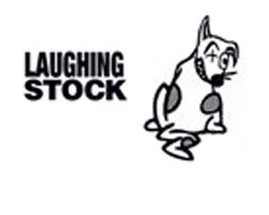 """Laughing Stock"" with a smiling dog"