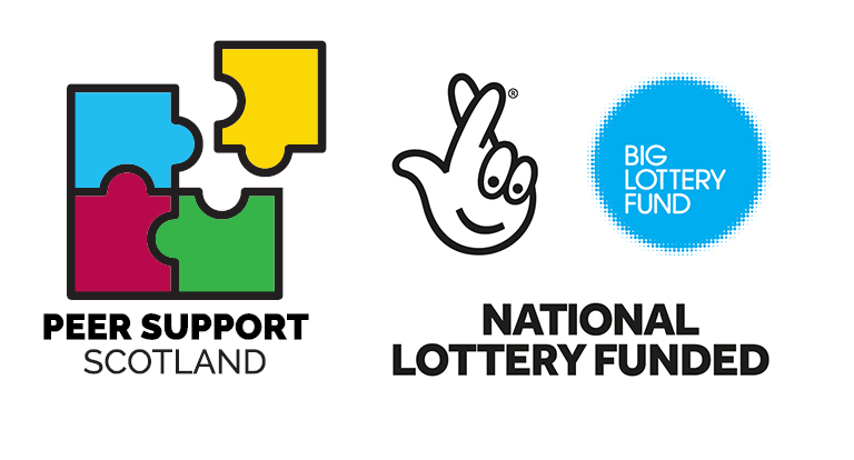 Peer Support Scotland and National Lottery Fund logos