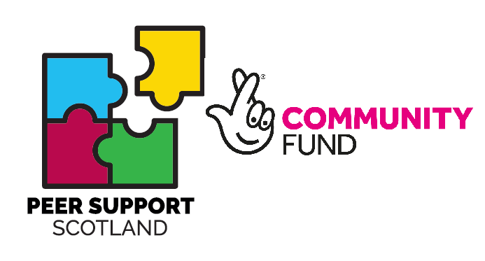 Peer Support Scotland and Community Fund logos