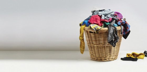 Laundry basket with washing