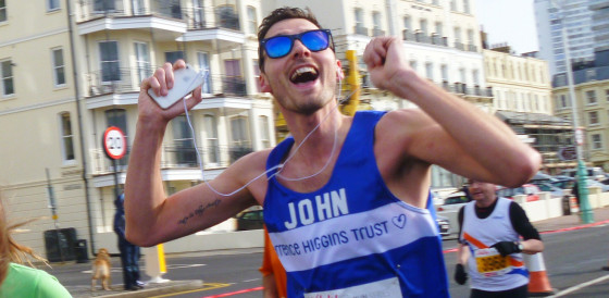 Runner John in Brighton Marathon