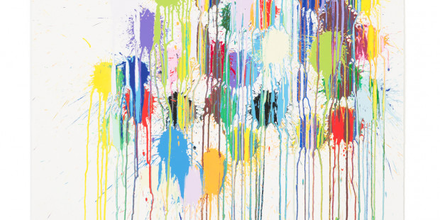 Colour Splat Cluster by Ian Davenport