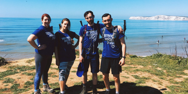 Isle of Wight Challenge, THT walkers standing on coastal path