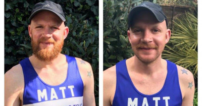 Big Shave Challenge, Matt before and after shaving