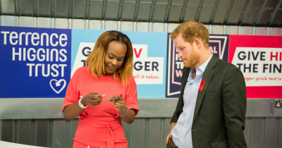 Prince Harry visiting our Hackney pop-up shop