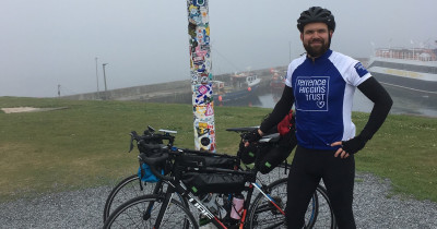 John O Groats, THT rider with bike