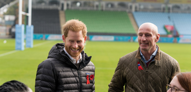 The Duke of Sussex and Gareth Thomas
