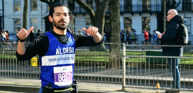 Alonso running in London based marathon
