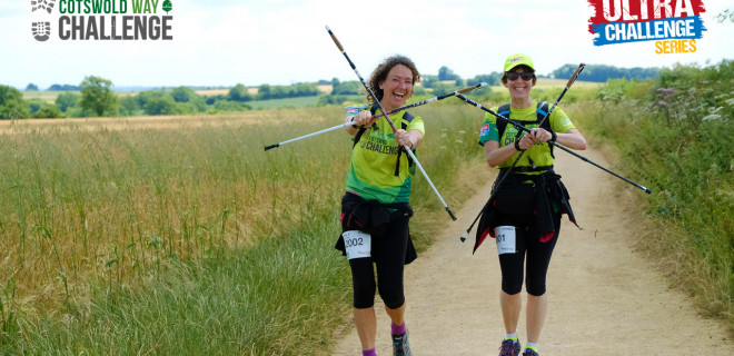 Two walkers on Cotswold Way Challenge