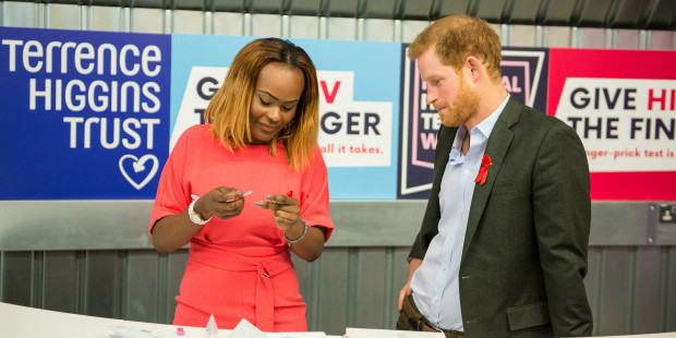 Prince Harry at National HIV Testing Week