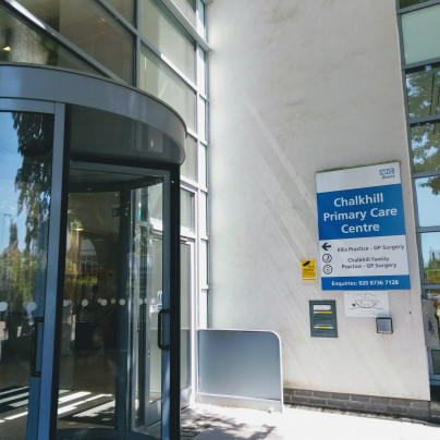 Entrance to Chalkhill Primary Care Centre