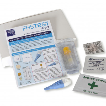 Contents of HIV postal testing kit