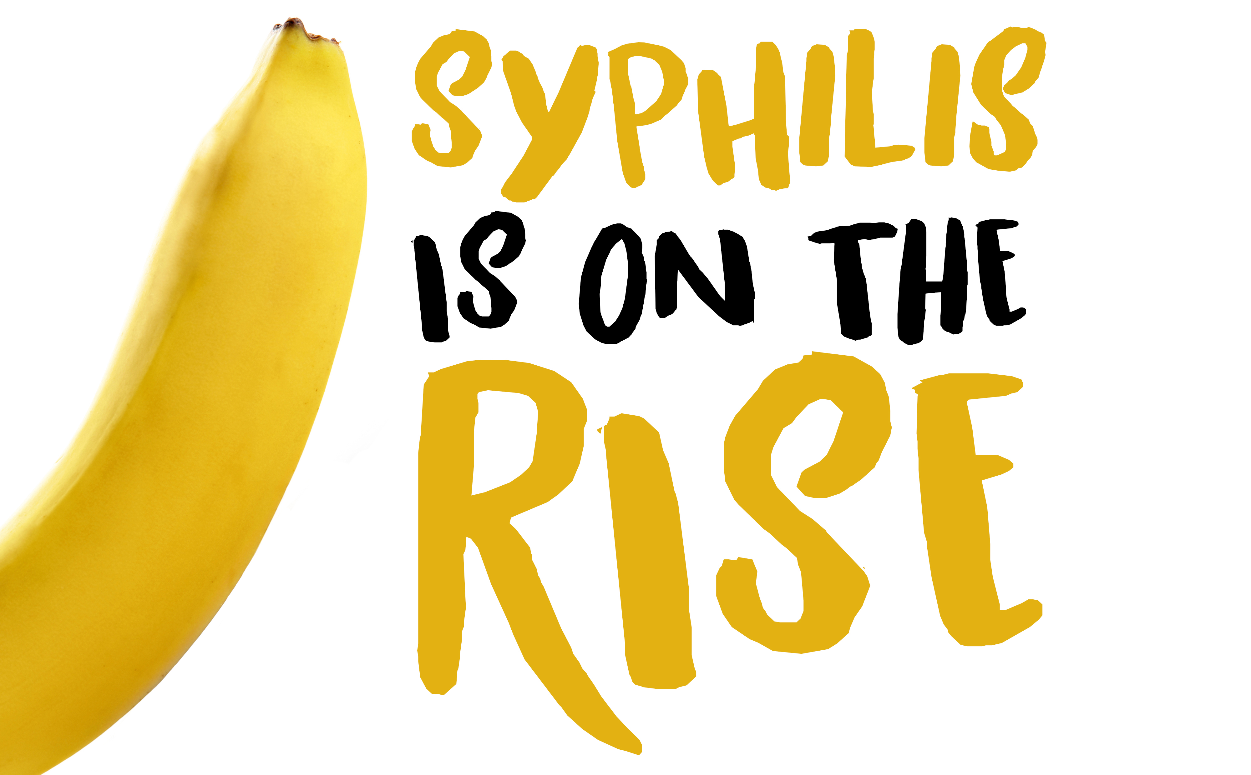 Syphilis is on the rise - banana logo